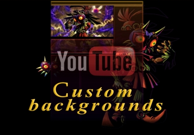 YouTube custom backgrounds!