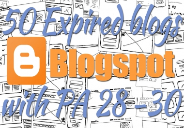 400+ Orders - Provide 20 Expired Blogspot PA 27 and above