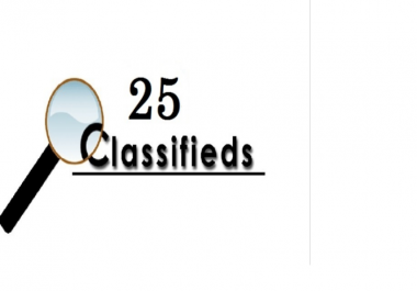 post your ad on 25 top rated classified websites