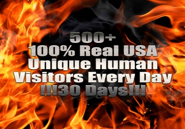 I will Direct 500+ USA TRAFFIC Daily to Your Blog, Website or any URL!!!