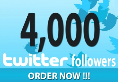 4250+ HQ Twitter Followers to your account