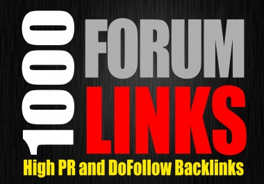I will create 1000 Forums Backlink, DA50 - Tons of Link Juice