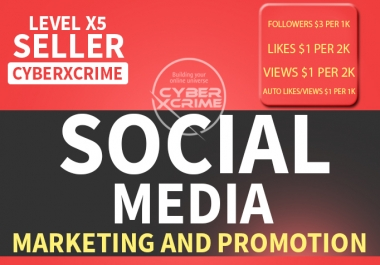 SOCIAL MEDIA Marketing and Promotion  for $1