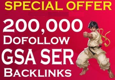 I will give 200000 SEO Google Authority Backlinks Gsa tier 3