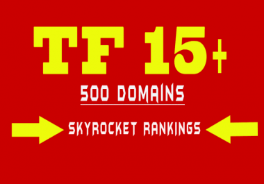 I will give you list of 500 About to Expired Domains with Majestic Trust Flow of 15