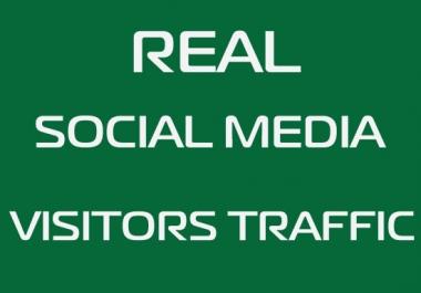 50000 Real Social Media Visitors Traffic to Website