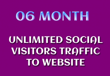 06 Month Unlimited Social Visitors Traffic to Website