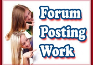 ★★★ Forum Posting Service ★★★ 50 Unique Domains ★ 50 Quality Contextual Links ★ DA20+ ★ PA20+