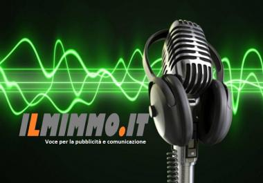 Speaker Voce italiana maschile  Male Italy Voiceover Fast - Veloce