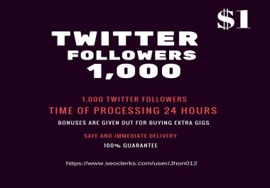 1000 Twitter fllowes fastest