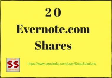 Bring You 20 Evernote.com App Shares Manually For Your URL
