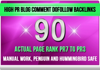make 90 Dofollow Blog Comment Backlinks Pr7 to Pr3 Blog Commenting