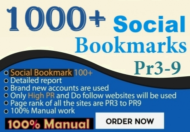 1000+ do Social bookmarking website and video, Quality build