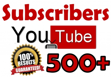 500+ YouTube Subscribers Organic & Safe Viral SeoPromotion
