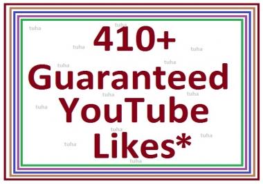 410+ guaranteed youtube video like