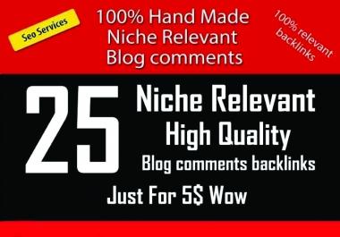 Do HQ 25 Niche Relevant Blog Comments