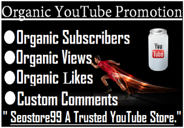 Organic YouTube Perfect Promotion By Via Real User Worldwide With Express Delivery