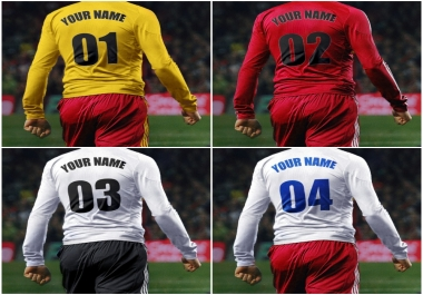write Text or Name on 5 football Jersey with Number