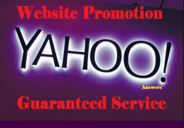 promote your website with 10 yahoo answers