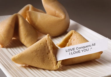 write your 5 messages or Text on Fortune Cookie