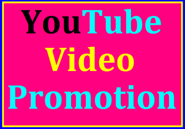YouTube Video Marketing & Social Media Promotion In 6-12 Hours Delivery