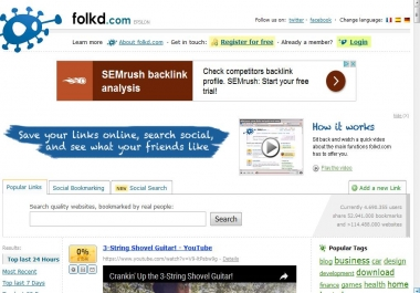 Do social Bookmark 100 Folkd Vote for your website to improve your google ranking