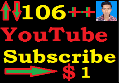 BRAND Service. 106 YouTube Subscriber OR 120+ Like Price