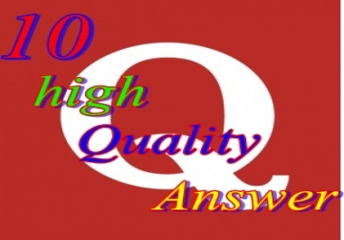 Create 10 Quora Answers promotion backlinks