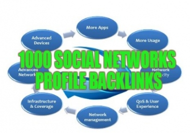 1000 Social Network Profile Backlinks