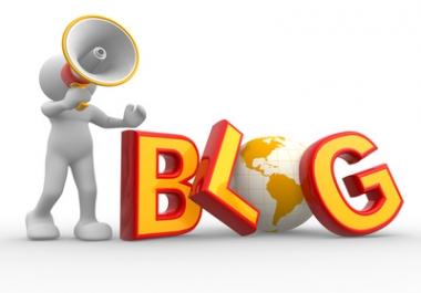 Promote your keywords  15 blog comment with high PR backlinks