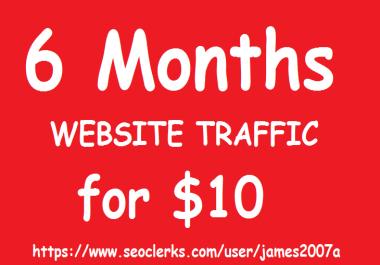 Adsense Safe UNLIMITED REAL Website TRAFFIC for 6 months