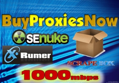 rent you 5 High Speed Private Proxies for one month