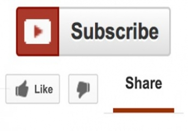 15 YouTube Likes, 5 YouTube subscribes and 20 YouTube shares