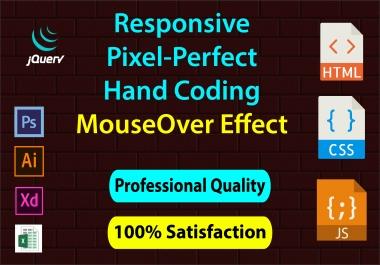 I will make SEO friendly responsive static webpage