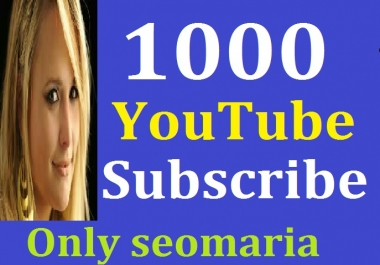 1000 Real You tube Subsc-ribers Non Drop Lifetime Guarantee 24/48 Hours Delivery