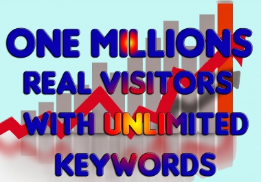 Drive One Millions Real Traffic for your websites or blogs