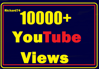 Instant start  10000+ Youtube views in your video Nondrop,Safe Very Fast Refill guaranteed
