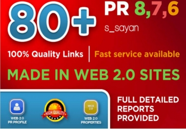 Create 80 Real High Pr BACKLINKS, Dofollow PR8, PR9, Authority, Anchor, Seo