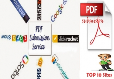 Submit 10 PDF submission on document sharing sites