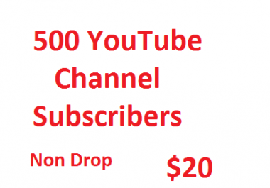 500 Non Drop channel promotion via real Users active and permanent