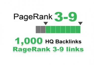 1000 backlinks for your links/keywords in only PR 3-9 sites