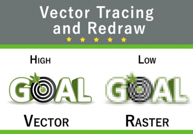 Redraw logo and image in vector format with HD quality