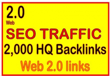 Get 2,000 web 2.0 high quality backlinks for your link(s)/keywords