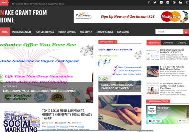 Display 1 Month Banner Advertising on PR5 Popular Site