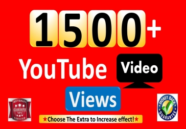 Instant Start 1500+YouTube-Video Views, Non Drop & Good Retention