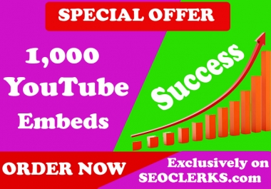 200,000 YouTube SEO Backlinks and Embeds, Organic Video