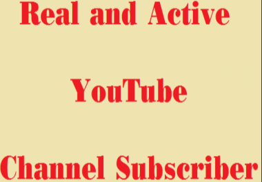 511+ Real & active Youtube subscribers