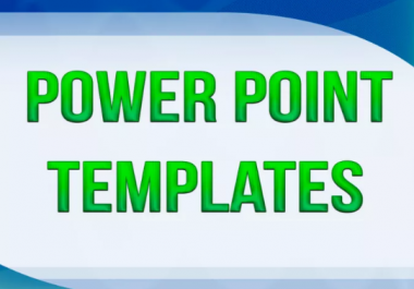 Send you 1500 Power Point TEMPLATES for all Niches