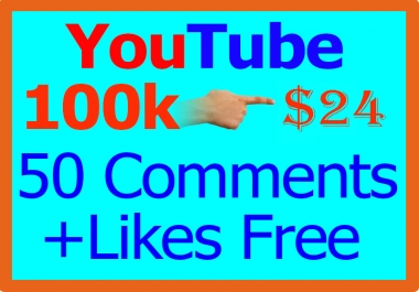 100,000 or 100k YouTube Views + 100 Like Free[ 100000 ]