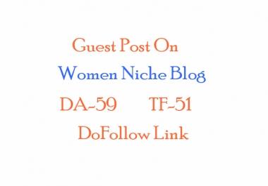publish guest post on Pure Women niche blog